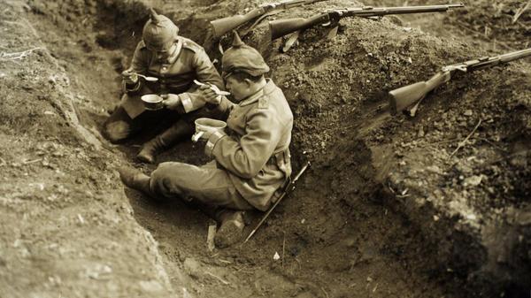 1ère Guerre Mondiale, tranchée allemande.