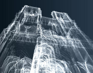 Digital 3D model of Notre-Dame