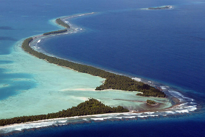 The Funafuti Atoll in the Pacific.