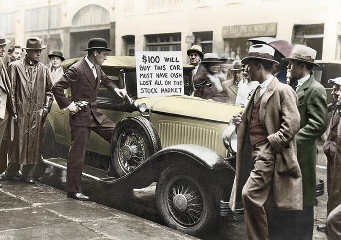Walter Thornton mettant en vente sa voiture pendant la crise de 1929