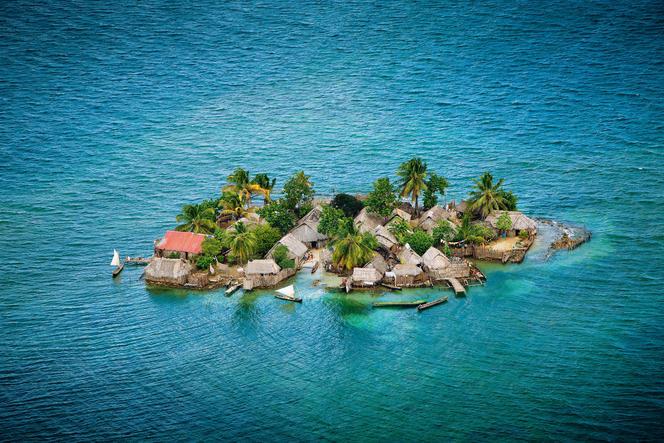 Montée des eaux dans l'archipel des San Blas, au Panama