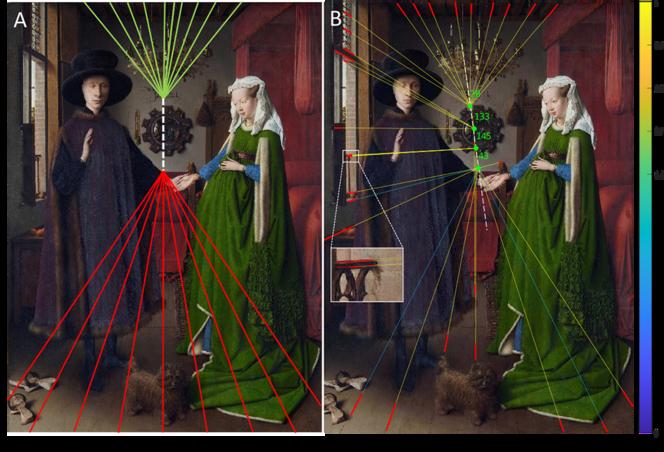 Van Eyck was a precursor of augmented reality