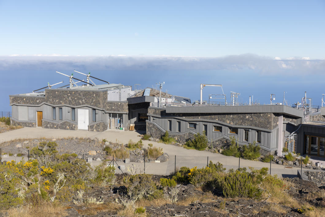 Environment observatory on the island of La Réunion in the Indian Ocean