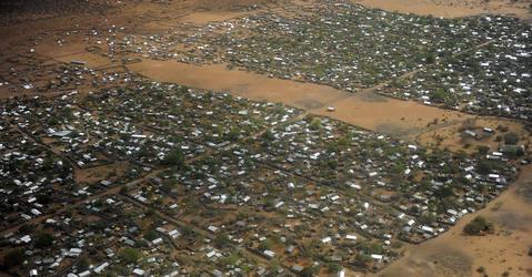 The Dadaab refugee camp in Kenya