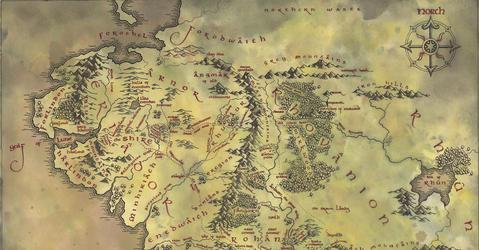 Carte de la Terre du Milieu