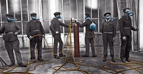 World War I, laboratories