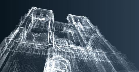 Digital 3D model of Notre-Dame