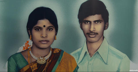 Portrait of Indian Couple