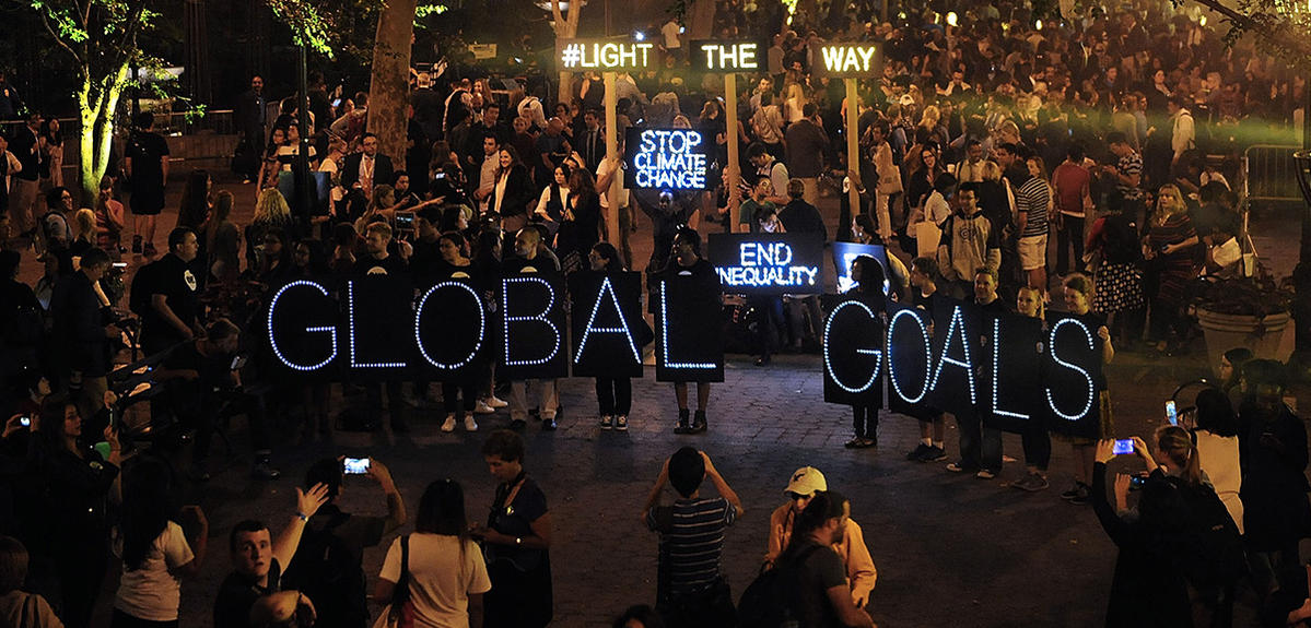 New York Action 2015 global mobilization event on September 24, 2015 in New York City