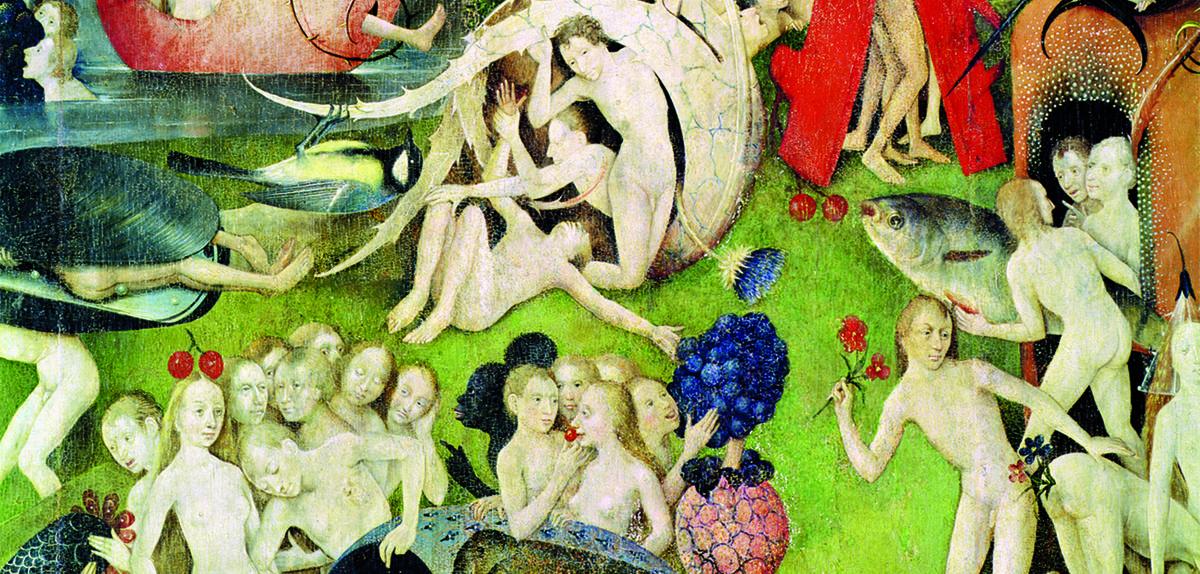 Détail du Jardin des délices, peint par Jérôme Bosch entre 1503 et 1504.