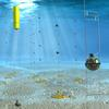3D rendering of the underwater neutrino detector